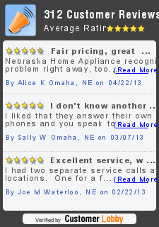 Customer Lobby Reviews of Nebraska Home Appliance