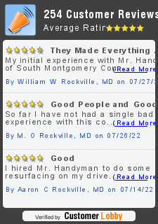 Review of Mr. Handyman of South Montgomery County