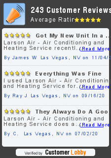 Review of Larson Air - Air Conditioning and Heating Service