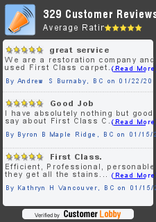 Review of First Class Carpet Cleaning Vancouver
